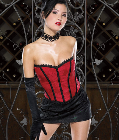 Womens Brocade Bustier with Buttons- Closeout Sale!