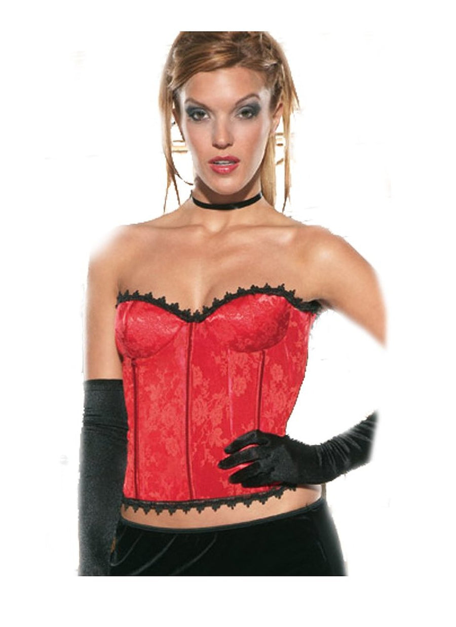 Ladies Brocade Bustier with Zipper -Clearance