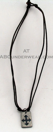 Double Cord Cross Necklace Choker