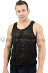 Mens Burnout Tank Top
