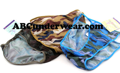 Camo Fishnet Panties - Closeout
