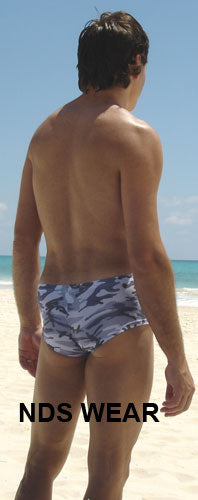 Camouflage Grey Lowrise Swimsuit