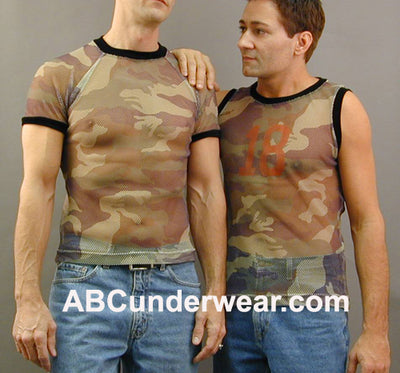 Camo Net Muscle Shirt