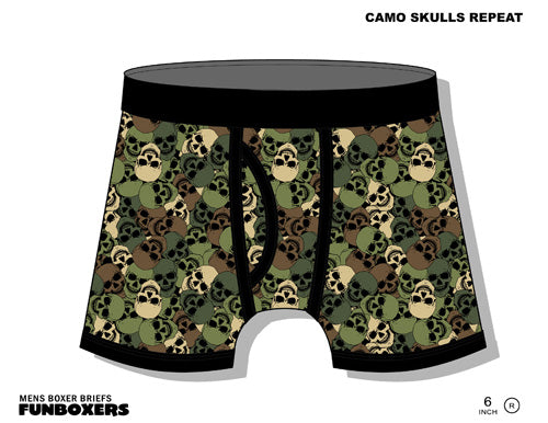 Camo Skull Boxer Brief