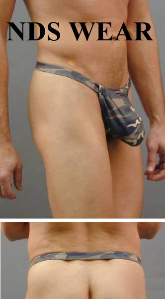Camo Backless Pouch with C-ring