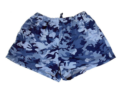 Camo Fast-Dry Nylon Classic Cut Unisex Swim Shorts by Uzzi