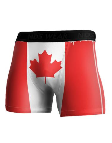 Canadian Flag Boxer Brief All Over Print Front and Back