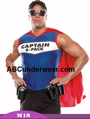 Mens Captain 6 Pack Halloween Costume