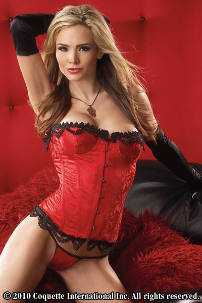 Brocade Bustier & G-String Set -