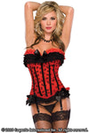 Red & Black Bow Mesh Corset