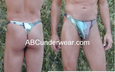 Camouflage Thong Swimsuit