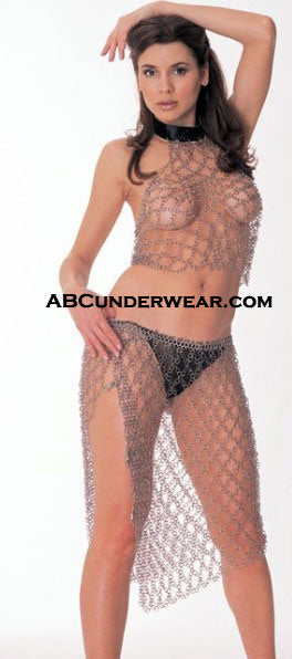 CHAIN MAIL HALTER TOP