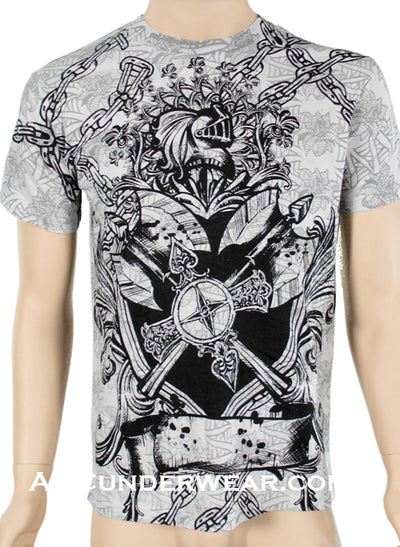 Chained Knights Designer T-shirt - Clearance
