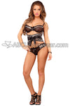Champagne Lace Bra, Waist Cinch and Panty