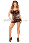 Champagne Lace Chemise and G-String