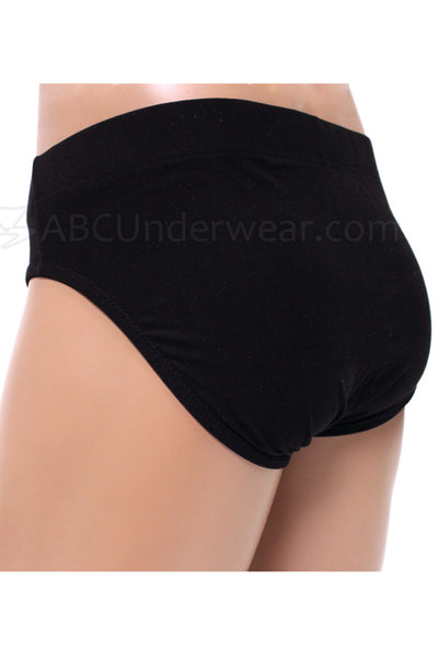Gregg Contoured Microfiber Brief Underwear - black