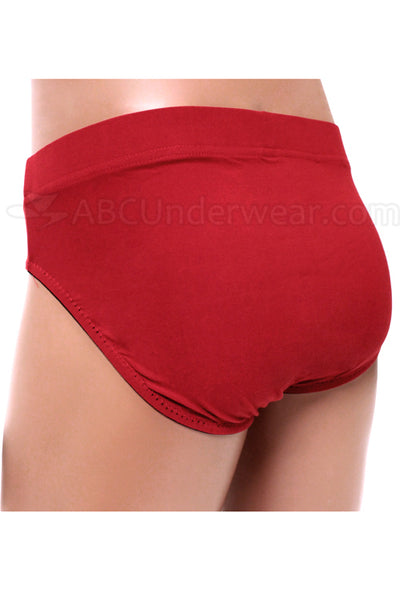 Gregg Contoured Microfiber Brief Underwear - Deep Red