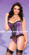 Lace trim Corset & G-String Set