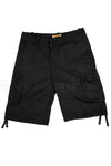 Cotton Cargo Shorts - Black