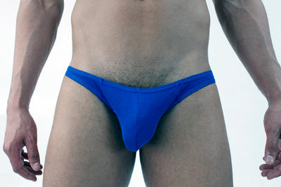 Cotton Mesh Bikini Brief Underwear for Men
