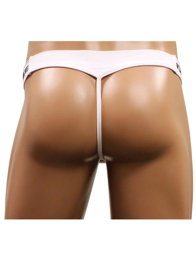 NDS Wear Mens Cotton Mesh Brazilian Thong White