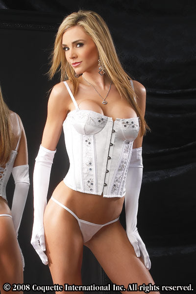 Womens 2 Piece Bustier Set - Coquette Bustier -Clearance