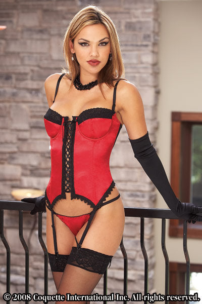 Womens Corset with Thong Set- Clearance