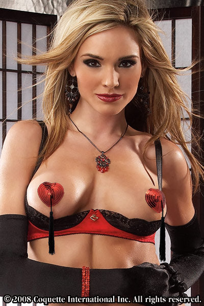 Heart Shaped Pasties with Tassels