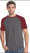 COTTON SHEER CREW NECK SHORT SLEEVE RAGLAN  - Closoeut