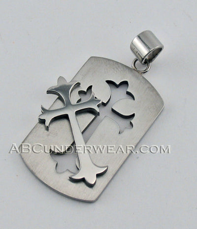 Cross Dog Tag Necklace