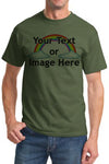 Custom Personalized Olive Green T-Shirt