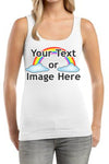 Women's Personalized Custom Junior Rib Tank