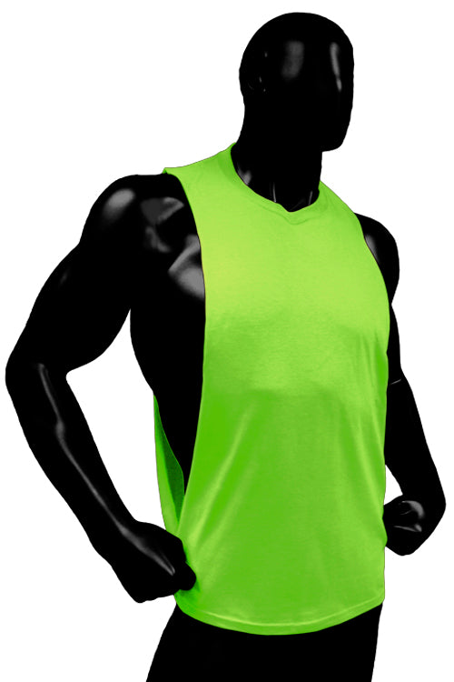 Cutout Muscle Shirt Tank - Neon Green
