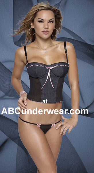 Denim Bustier and G-String