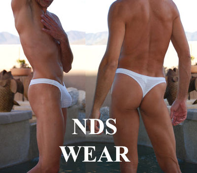 White Diamond Mesh Men's Thong