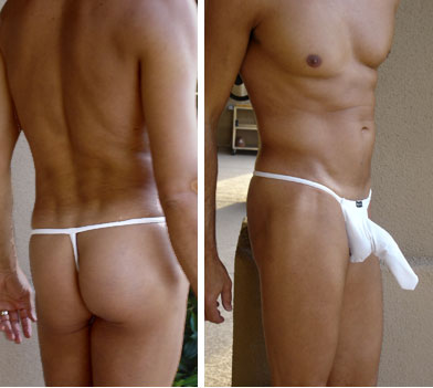 DIQ White G-String