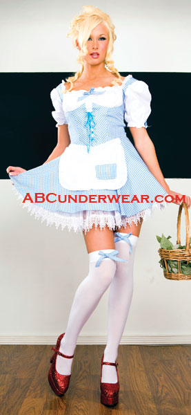 Blue & White Checker Gingham Peasant -Clearance
