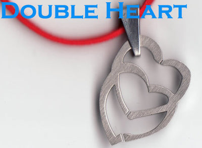 Stainless Steel Double Heart Necklace