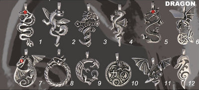 Dragon Pewter Necklace