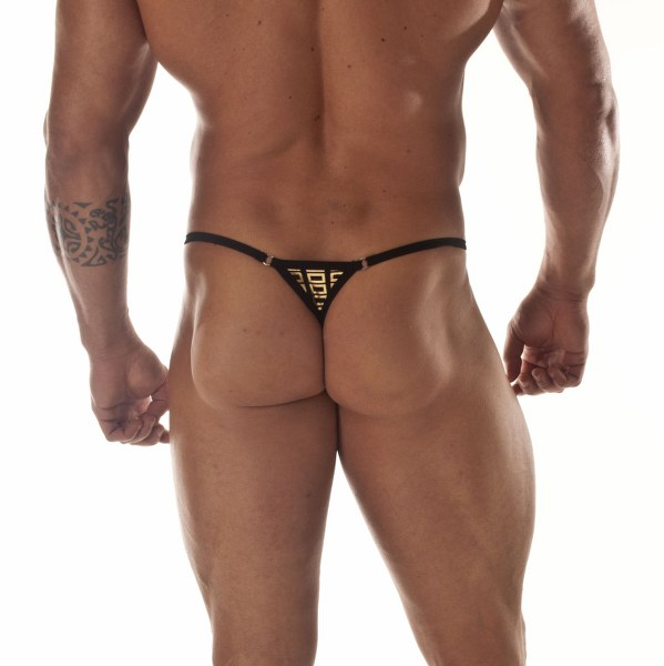 Egyptian God Gold Print G-string Thong For Men