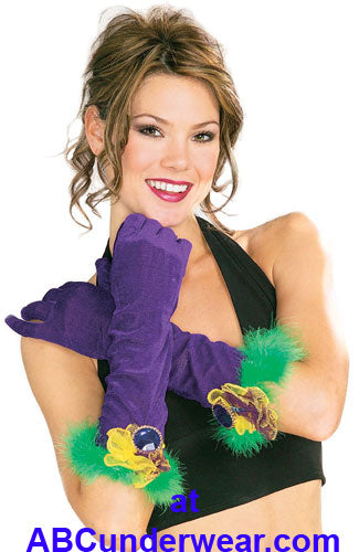 Purple Velvet Gloves