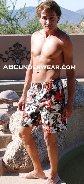 Fire Floral Swimshort