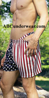 Stars And Stripes Silk Boxer - Small Clearance