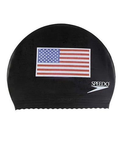 USA Flag Swim Cap
