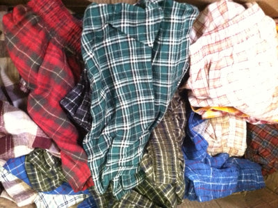 Flannel Boxer Shorts