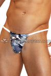 Blue Gray Camo G-String