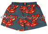 Gray Superman Knit Adult Boxer