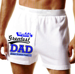 World's Greatest Dad Custom Print Boxer