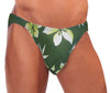 Men's Green Leaf Bikini Swimsuit -Closeout