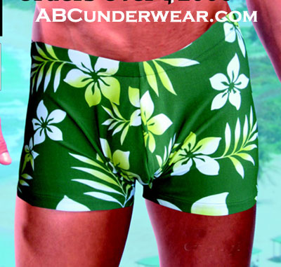 Green Leaf Swim Short -Closeout